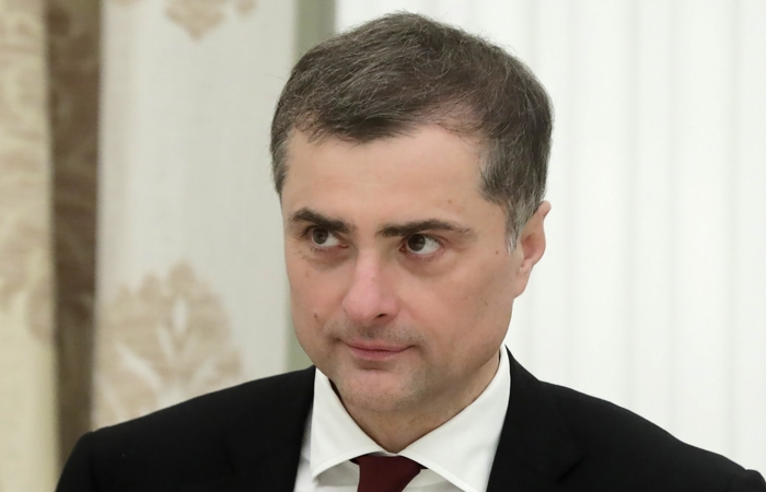 MOSCOW, RUSSIA - AUGUST 24, 2018: Russian Presidential Aide Vladislav Surkov during a meeting of Russia's President Vladimir Putin with South Ossetia's President Anatoly Bibilov at Moscow's Kremlin. Mikhail Metzel/TASS  ??????. ??????. ???????? ?????????? ?????? ????????? ?????? ????? ??????? ??????? ?????????? ?????? ?.?????? ? ?????????? ?????????? ????? ?????? ?.???????? ? ??????. ?????? ???????/????